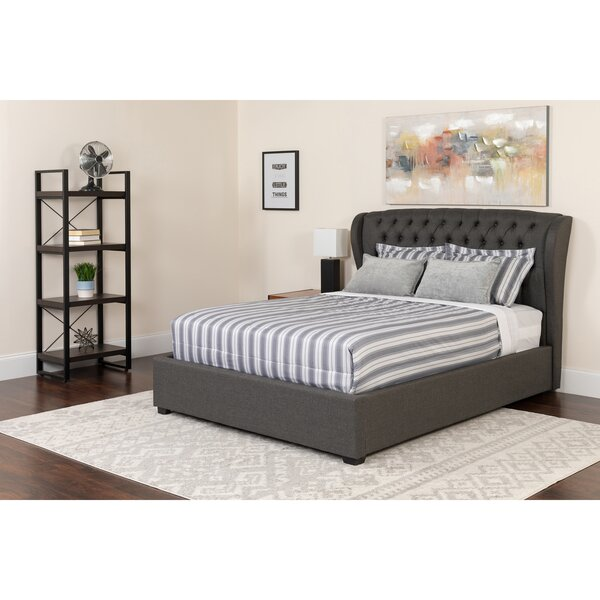 Angie Twin Upholstered Platform Bed with Mattress by Alcott Hill