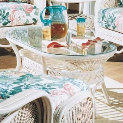 South Sea Rattan Glass Top Coffee Tables