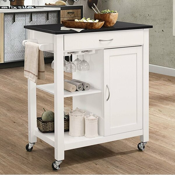 Furtado Wheeled Kitchen Cart by Ebern Designs