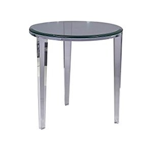 Angelo End Table with Glass by Shahrooz