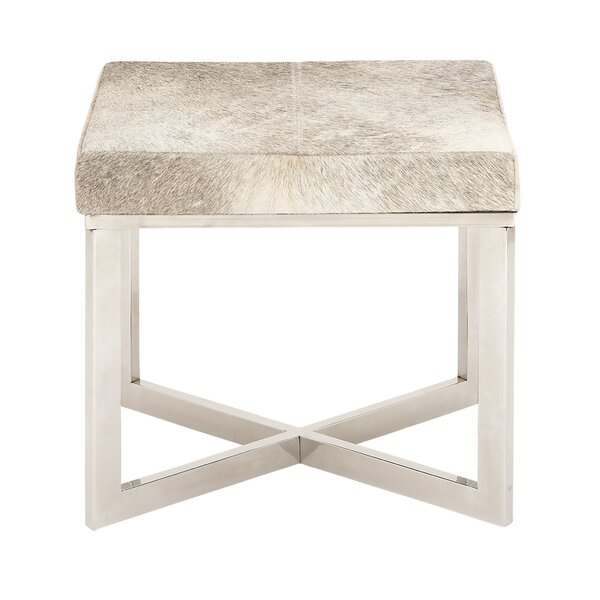 Stainless Steel Hide Stool by Cole & Grey