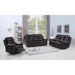 Trower Upholstered 3 Piece Living Room Set