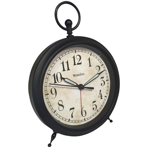 Top Ring Décor Alarm Tabletop Clock by Darby Home Co