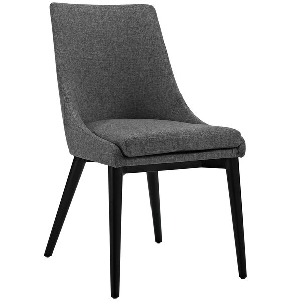 Carlton Wood Leg Upholstered Dining Chair By Corrigan Studio.