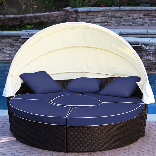 Bourbana All-Weather 4 Piece Rattan Complete Patio Set with Cushions by Latitude Run