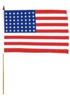 48 Star Traditional Flag and Flagpole Set (Set of 12) by Flags Importer