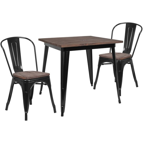 Prine 3 Piece Solid Wood Dining Set by Williston Forge