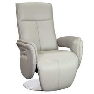 Monica Leather Manual Swivel Recliner by Whiteline Imports