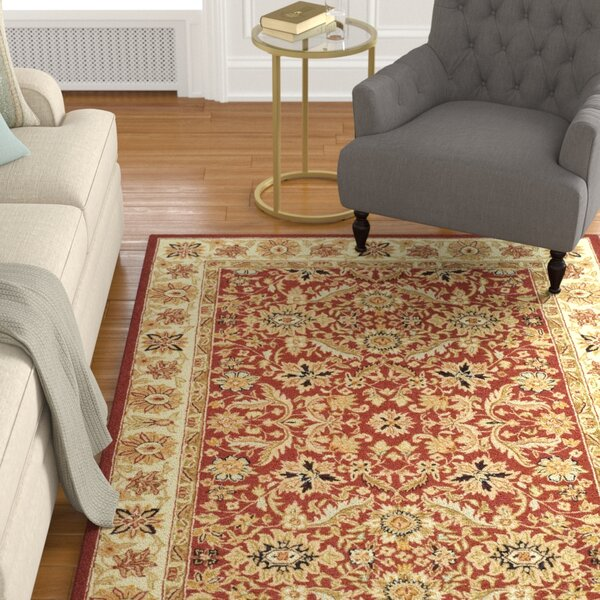 Weaver Red / Ivory Area Rug by Astoria Grand