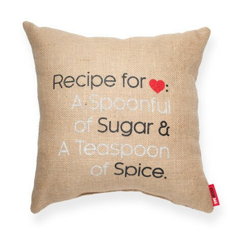 Expressive Recipe For Love Decorative Burlap Throw Pillow by Posh365