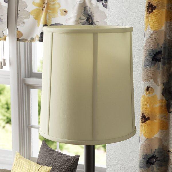 19 H x 18 W Silk/Shantung Drum Lamp Shade ( Spider ) in Eggshell White