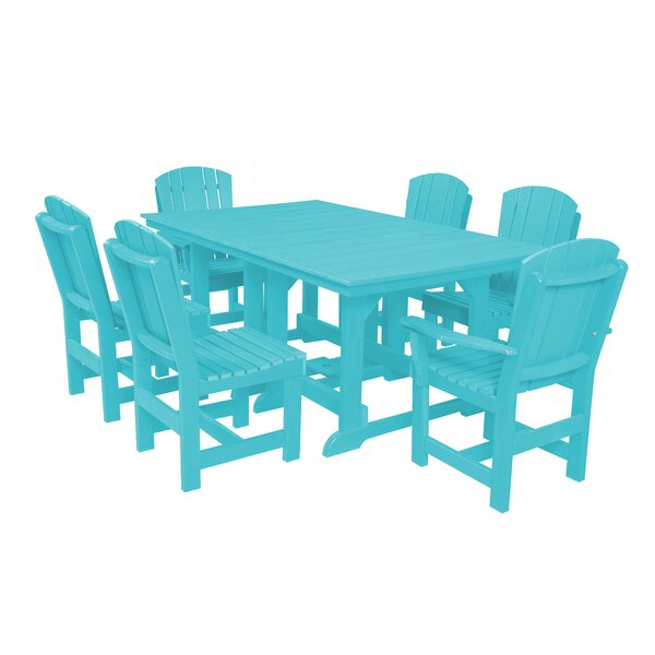 Patricia 7 Piece Dining Set by Rosecliff Heights