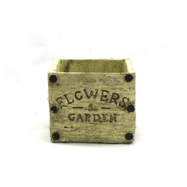 Flowers and Garden Cement Planter Box by WGV International