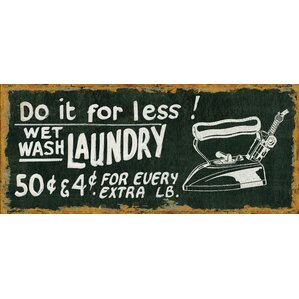 Vintage Laundry Kitchen Mat