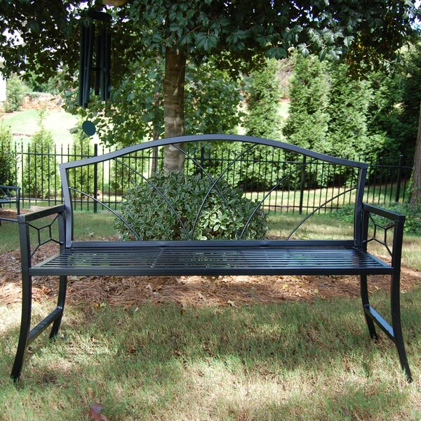 Nelumbo Steel Garden Bench by Griffith Creek Designs