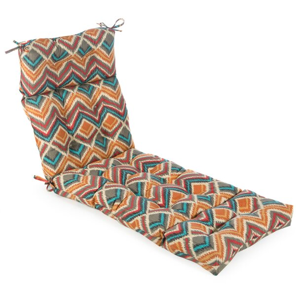 Outdoor Surreal Chaise Lounger Cushion by Bungalow Rose Bungalow Rose