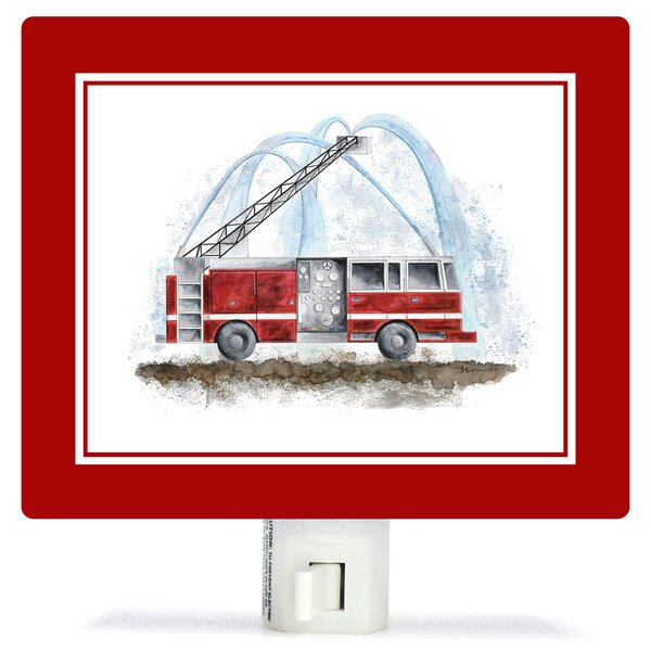 Planes, Trains & Autos - Fire Truck by Brett Blumenthal Night Light by Oopsy Daisy