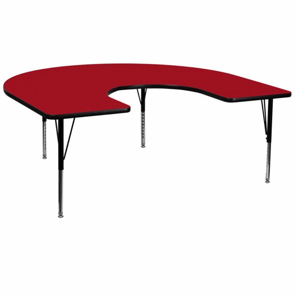 Thermal Fused Laminate Top 66'' L x 60'' W Horseshoe Shaped Activity Table by Offex