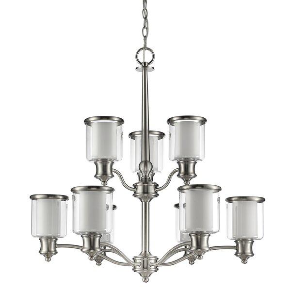 Mcduffy 9-Light Shaded Chandelier by Ebern Designs