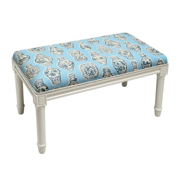 Weston Porcelain Wood Bench by Ophelia & Co.