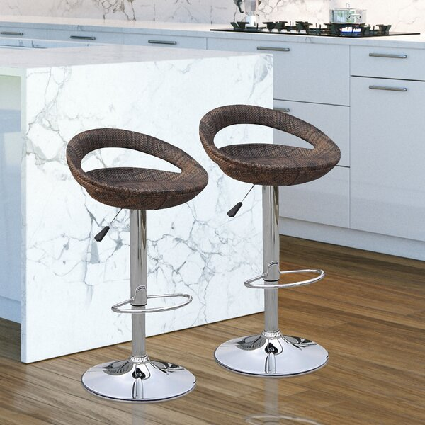 Adjustable Height Swivel Bar Stool (Set of 2) by HomCom