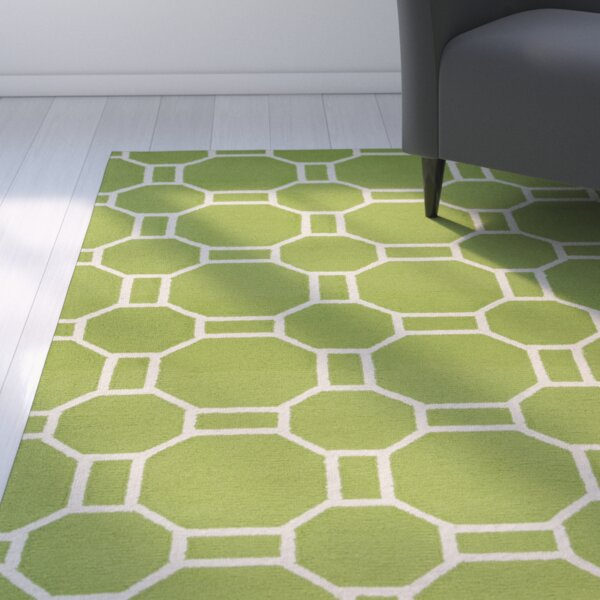 Evangeline Hand-Tufted Lime Indoor/Outdoor Area Rug by Ebern Designs