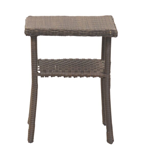 Calion Wicker Side Table by Bay Isle Home