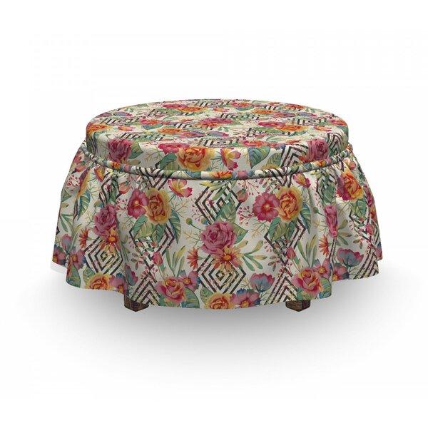 Diamond Shaped Rectangle 2 Piece Box Cushion Ottoman Slipcover Set By East Urban Home