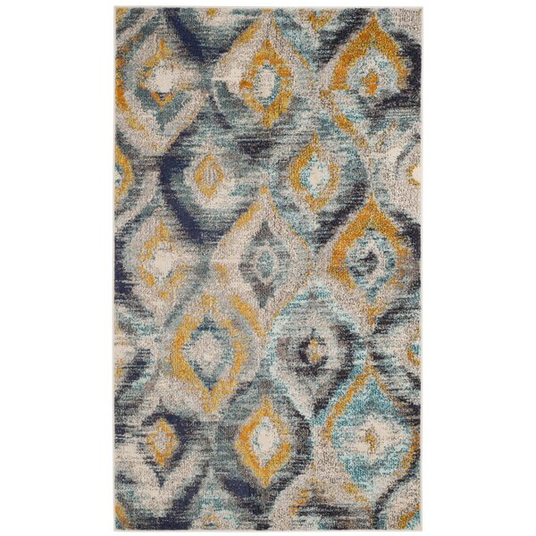 Theresa Blue Area Rug by Bungalow Rose