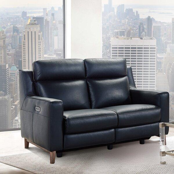 Good Quality Georgianna Leather Reclining Loveseat by Brayden Studio by Brayden Studio