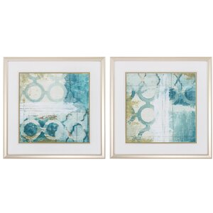 Ramble 2 Piece Framed Painting Print Set by Propac Images