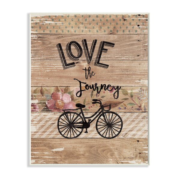 Enjoy the Journey Bicycle and Flowers Textual Art by Stupell Industries