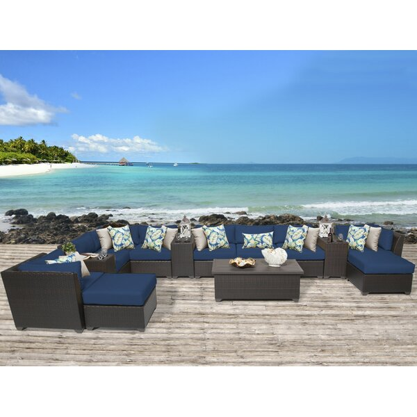 Tegan 14 Piece Sectional Seating Group with Cushions by Sol 72 Outdoor