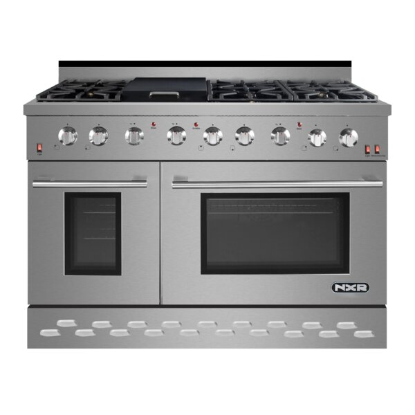 48 Free-standing Gas Range with Griddle by NXR Professional Ranges