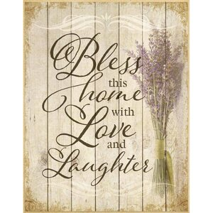 Bless This Home… Textual Art Plaque by Dexsa