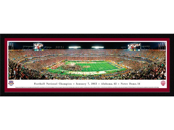 NCAA BCS Football Championship 2013 by Christopher Gjevre Framed Photographic Print by Blakeway Worldwide Panoramas, Inc