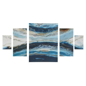 'Midnight Tide' Graphic Art Print Multi-Piece Image on Wood by Ivy Bronx