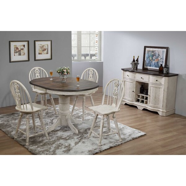#2 Thibaut Vintage Estates 6 Piece Extendable Dining Set By One Allium Way 2019 Coupon
