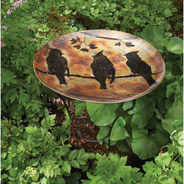 Kendall Waxwing Flamed Birdbath by Millwood Pines