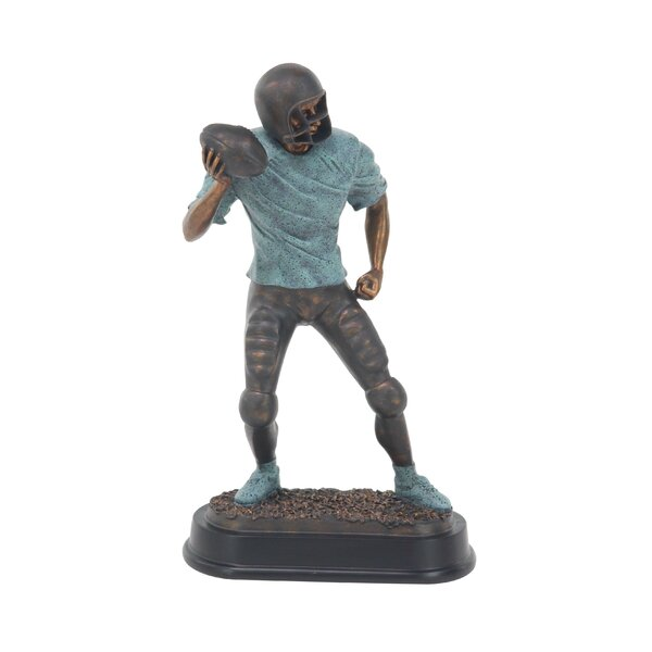 Furst Modern Passing Football Player Figurine by Zoomie Kids