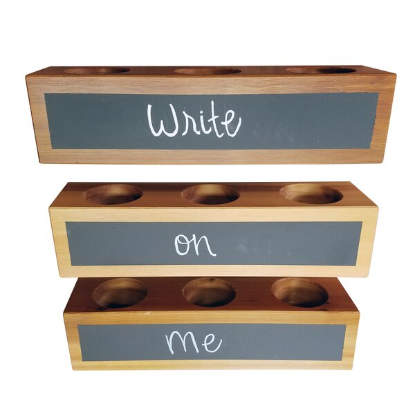 Logan Square 3-Piece Cedar Planter Box Set with Chalkboard by Gracie Oaks