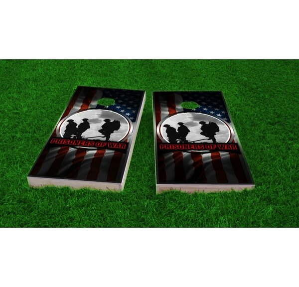 POW Theme Cornhole Game Set by Custom Cornhole Boards
