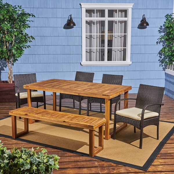 Deusenburg Outdoor 6 Piece Dining Set with Cushions by Brayden Studio