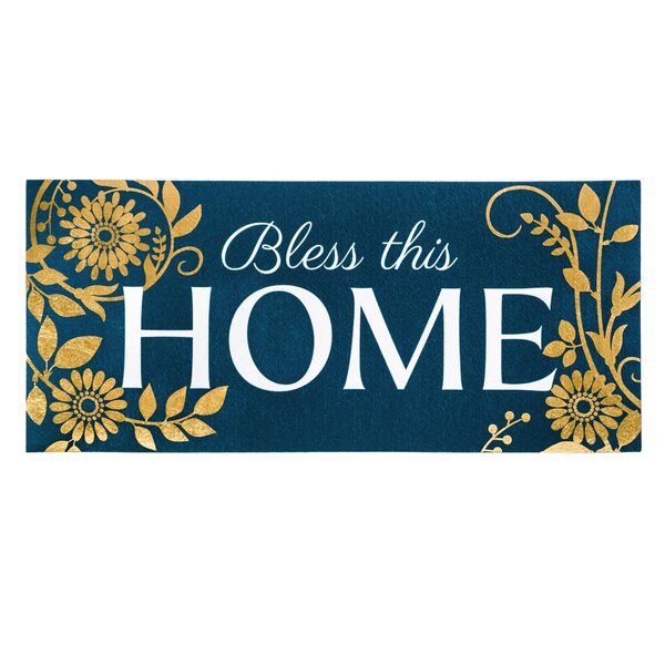 Rosenow Bless This Home Sassafras Insert Doormat by August Grove