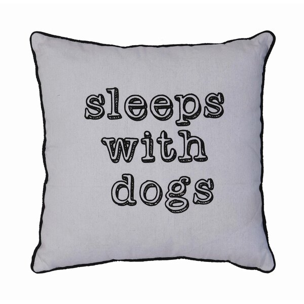 Sleeps with Dogs Linen Throw Pillow by Creative Co-Op
