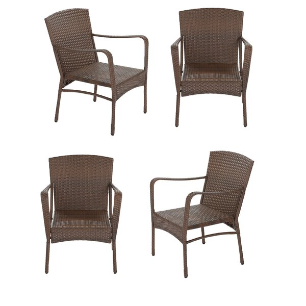 Rushmore Garden Patio Stacking Patio Dining Chair (Set of 4) by August Grove