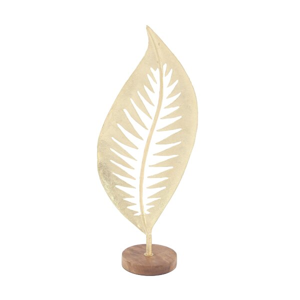 Timberview Modern Leaf Sculpture by Bay Isle Home