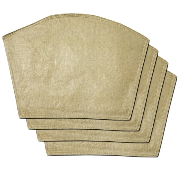 Makenzie Restaurant Quality Vinyl Wedge Placemat (Set of 4) by Gracie Oaks