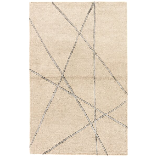 Ashton Hand-Tufted Beige/Pewter Area Rug by Williston Forge