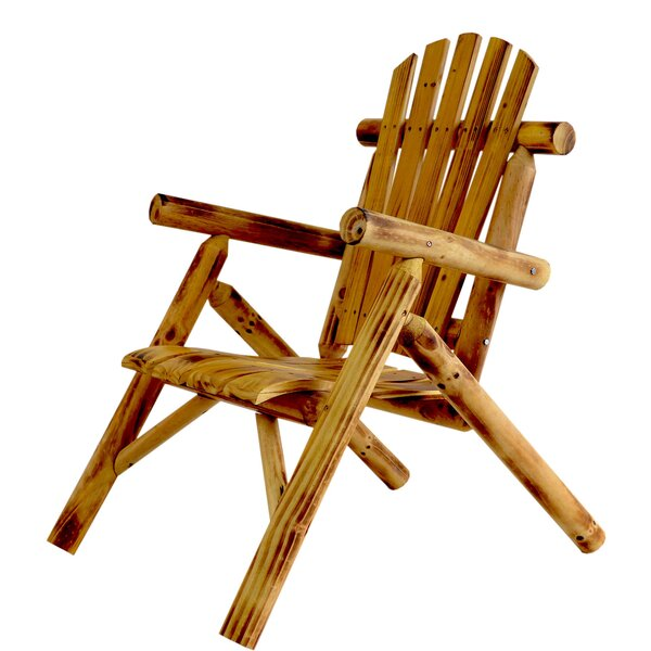 Solid Wood Adirondack Chair by Millwood Pines Millwood Pines